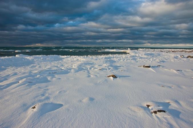 Lake Huron in the winter