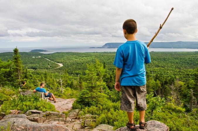 enjoying the view at Cape Breton