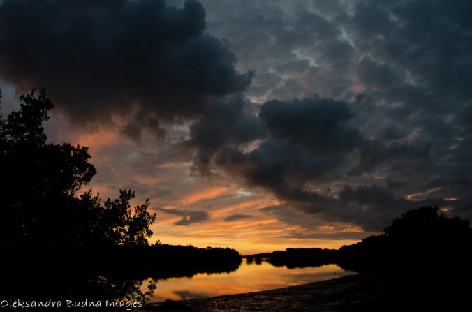 sunset at Flamingo Campground at Everglades