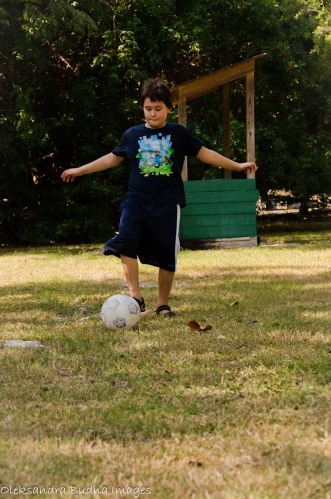 playing soccer at Sugarloaf KOA