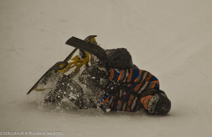 falling off a toboggan