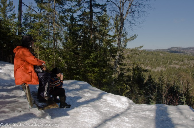 lookout on Bat Lake trail in Algonquin