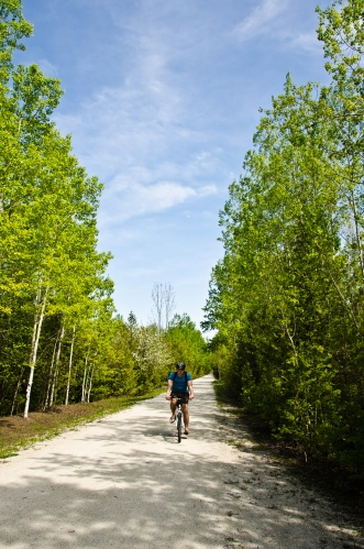 biking at craigleth provincial park