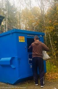 disposing of garbage