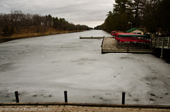 Old Ausable Channel covered in ice