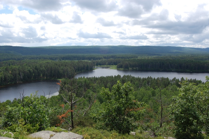 view from egg rock in algonquin