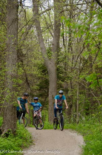 biking the Centennial Bike and Hike trail at Point Pelee
