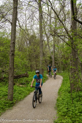 biking the Centennial Bike and hike trail at Point Pelee National Park