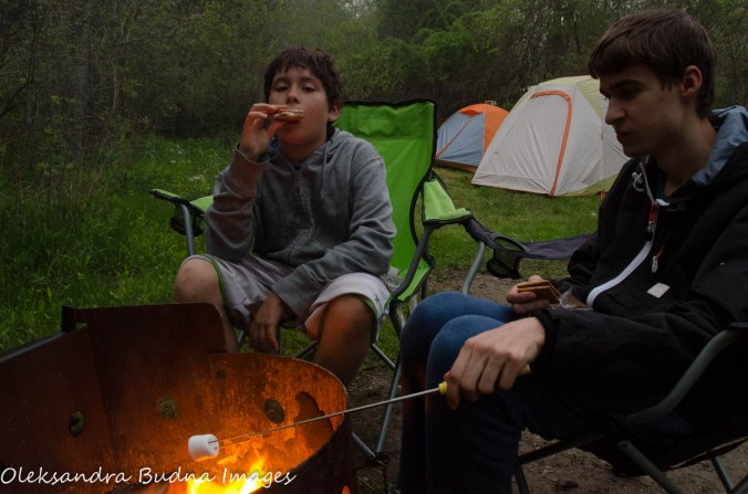 s'mores at Wheatley Provincial park