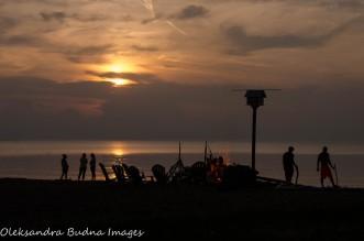 sunset on the beach on Pelee Island