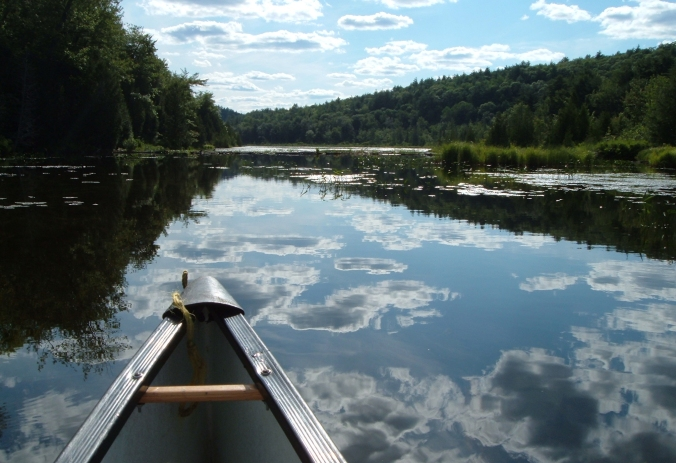 caneing in Bon Echo Provincial Park, Kishkebus Canoe Route