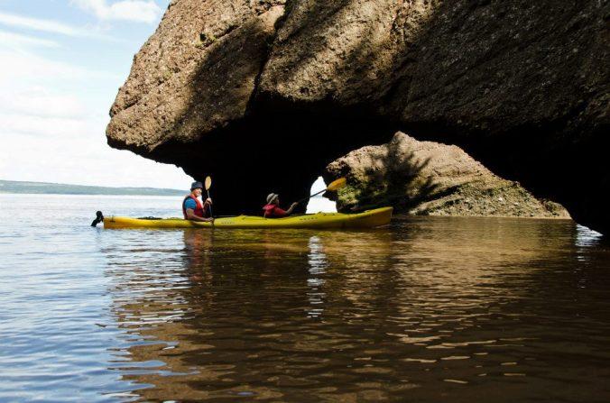 Kayaking at Hopewell Rocks, Bay of Fundy, New Brunswick
