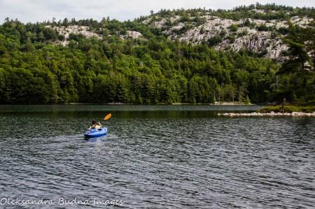 kayaking on O.S.A. Lake at Killarney