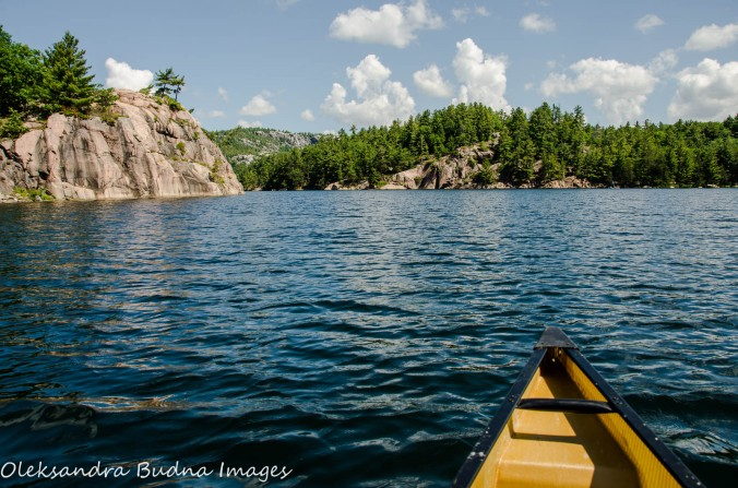 Canoeing on George Lake at Killarney Provincial Park