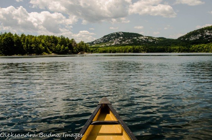 Canoeing on Killarney Lake at Killarney Provincial Park