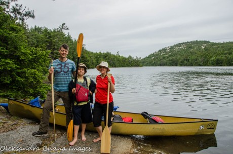 canoeing at Killarney Provincial Park
