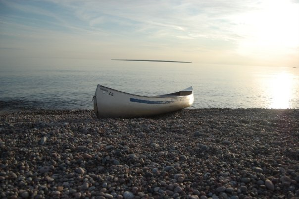 canoe at Lake Superior