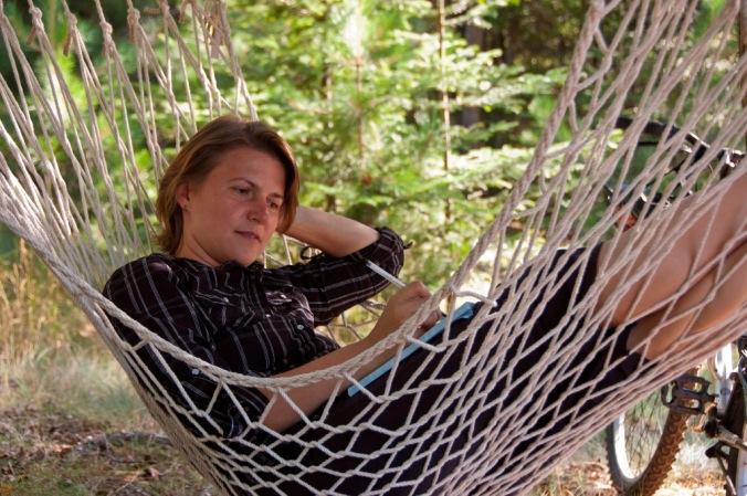 in a hammock