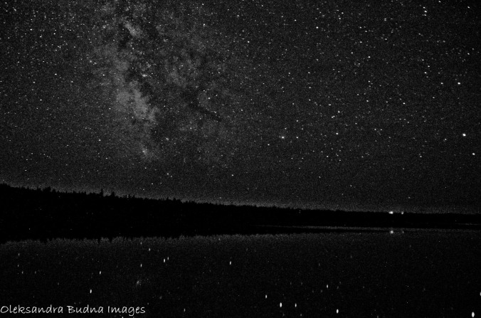 Milky Way over Cyprus lake at Bruce Peninsula National Park