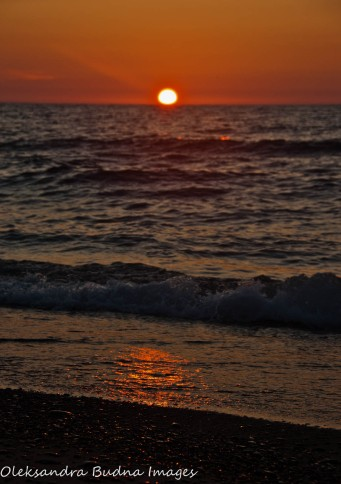 sunset at Twelvemile Beach at Pictured Rocks National Lakeshore
