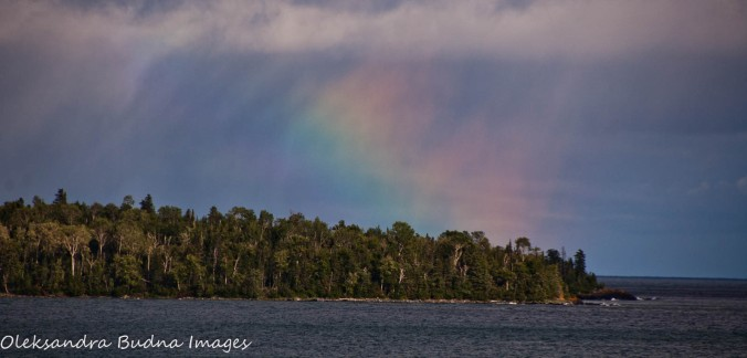rainbow over Lake Superior