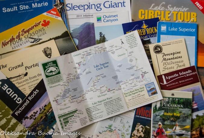 Lake Superior Circle Tour maps and brochures