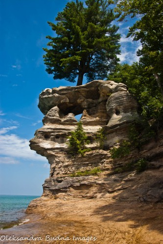 Chapel Rock at Pictured Rocks National Lakeshore