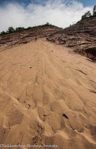 Log Slide at Pictured Rocks National Lakeshore