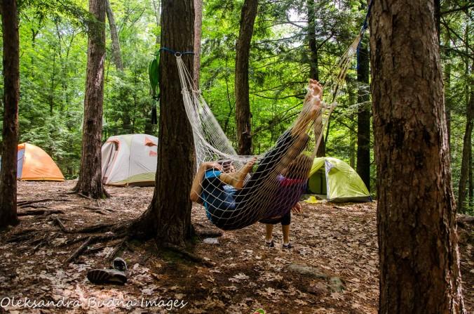 campsite 77 at Silent Lake Provincial Park