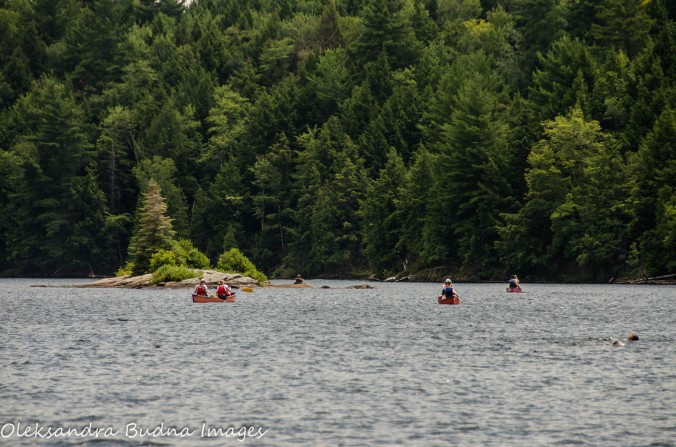 canoeing at Silent Lake Provincial Park
