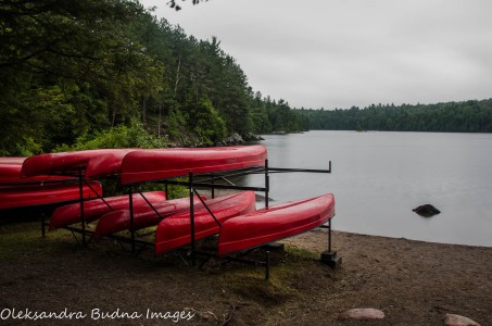 canoe launch at Silent Lake Provincial Park