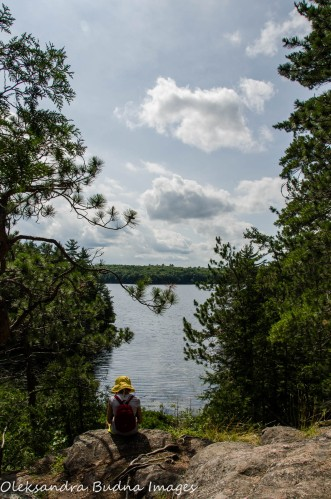 the view from Lakeshore Trail at Silent Lake Provincial Park