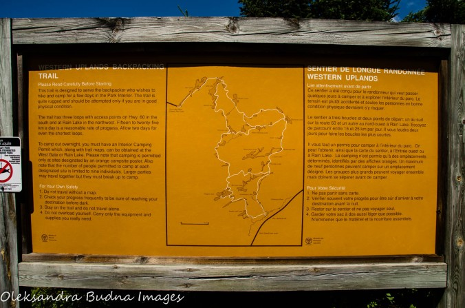 Western Uplands Backpacking Trail Map