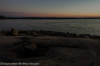 after the sunset at Killbear Provincial Park