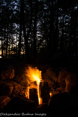 campfire at Killbear Provincial Park