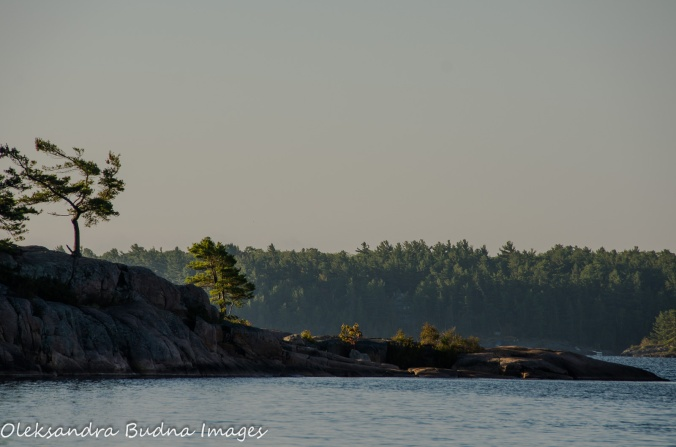 rocky shoreline at Killbear Provincial Park