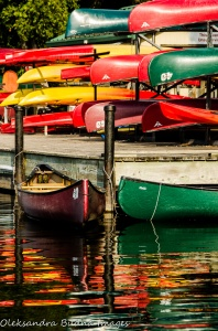 canoes at Pinery Provincial Park