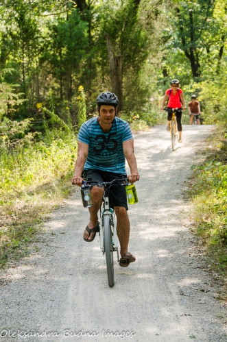 biking at Pinery Provincial Park - Savanna Bike Trail