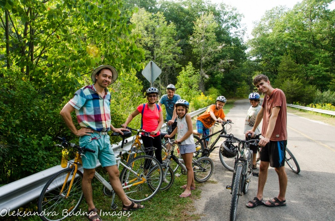 biking at Pinery Provincial Park