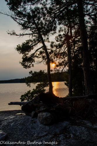 backcountry campsite at Quetico