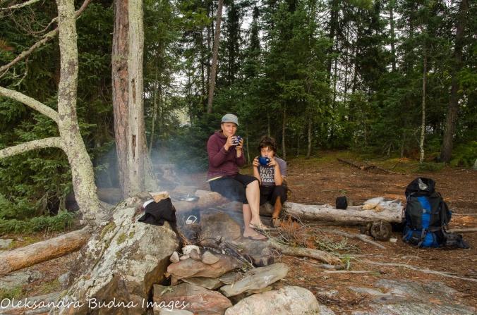 morning tea - backcountry campsite in Quetico