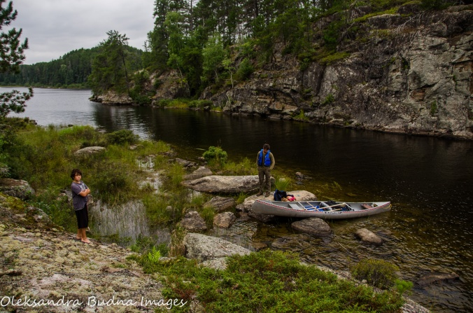 looking for a campsite in Quetico