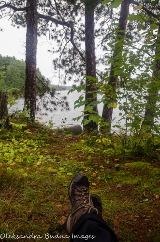 view from the tent in Quetico