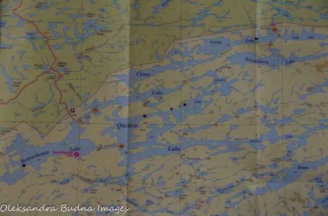 Cirrus-Sue Falls-Quetico canoe route map ap