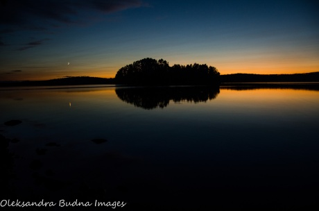 after sunset - French Lake at Quetico Provincial Park