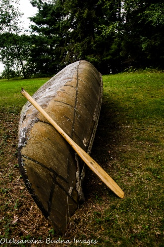old canoe at Quetico Provincial Park