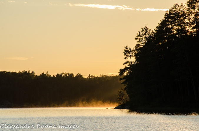 after the rain on French Lake at Quetico