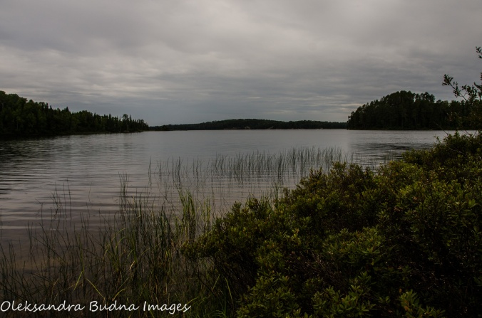 cloudy day over French Lake at Quetico