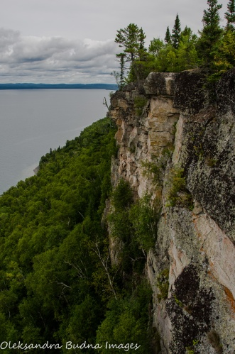 view from Thunder Bay lookout at Sleeping Giant
