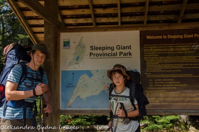 Kabeyun trailhead at Sleeping Giant